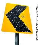 the traffic signpost isolated... | Shutterstock . vector #313238963