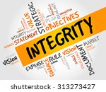 integrity word cloud  business... | Shutterstock .eps vector #313273427