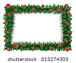 roses frame isolated on white... | Shutterstock .eps vector #313274303