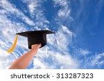 congratulated the graduates. in ... | Shutterstock . vector #313287323