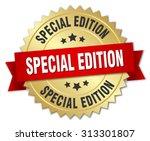 special edition 3d gold badge... | Shutterstock .eps vector #313301807