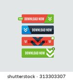 colorful download web button... | Shutterstock . vector #313303307