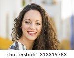 outdoor portrait of a beautiful ...   Shutterstock . vector #313319783