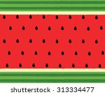 Vector Of Water Melon Background