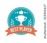best player round banner badge | Shutterstock .eps vector #313341617