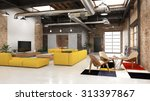 modern loft with industrial...   Shutterstock . vector #313397867