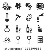 wine icons  | Shutterstock .eps vector #313399853