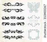 vintage design elements and... | Shutterstock .eps vector #313403267