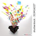 explosion of colorful confetti