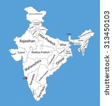 goa state  india  vector map... | Shutterstock .eps vector #313450103