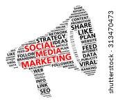 social media marketing word... | Shutterstock . vector #313470473
