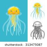 High Quality Jellyfish Cartoon...