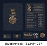 vector thai food restaurant menu template. | Shutterstock vector #313494287