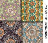 seamless patterns. vintage...   Shutterstock .eps vector #313521167