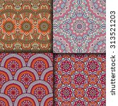 seamless patterns. vintage... | Shutterstock .eps vector #313521203
