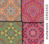 seamless patterns. vintage... | Shutterstock .eps vector #313521413