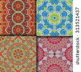 seamless patterns. vintage...   Shutterstock .eps vector #313521437