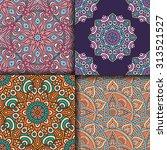 seamless patterns. vintage...   Shutterstock .eps vector #313521527
