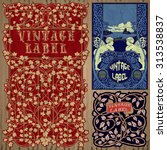 vector vintage items  label art ... | Shutterstock .eps vector #313538837