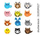 set vector twelve design... | Shutterstock .eps vector #313539317