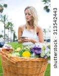 stylish hipster girl reading...   Shutterstock . vector #313542443