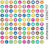 home 100 icons universal set... | Shutterstock .eps vector #313567757