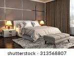bedroom interior. 3d... | Shutterstock . vector #313568807