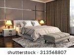 bedroom interior. 3d... | Shutterstock . vector #313568807