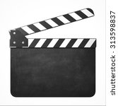 movie clapper with copy space   Shutterstock . vector #313598837