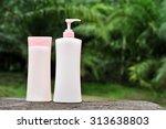 clean body lotion bottle on...   Shutterstock . vector #313638803