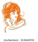 vector  stylish  original hand ... | Shutterstock .eps vector #313646933