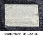 white textile tag on gray... | Shutterstock . vector #313656287