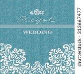vintage background  greeting... | Shutterstock .eps vector #313667477