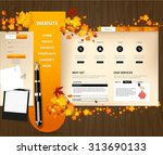 creative autumn theme website...