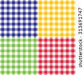 plaid vector gingham seamless... | Shutterstock .eps vector #313691747