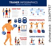 trainer infographics set with...   Shutterstock .eps vector #313697957
