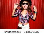 very emotional portrait of... | Shutterstock . vector #313699607
