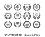 black and white premium quality ... | Shutterstock .eps vector #313732433