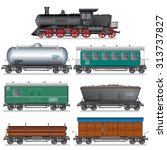 Steam Locomotive With Various...