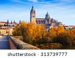 Autumn View Of Salamanca With...