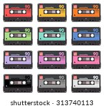 collection of twelve colorful... | Shutterstock .eps vector #313740113
