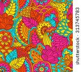 hand drawn seamless pattern...   Shutterstock . vector #313745783