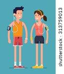 trendy flat character design on ... | Shutterstock .eps vector #313759013