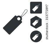 string tag icon set  monochrome ...