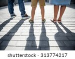 family in the city  dynamic... | Shutterstock . vector #313774217