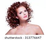 portrait of beautiful happy... | Shutterstock . vector #313776647