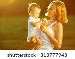 happy family concept. portrait...   Shutterstock . vector #313777943