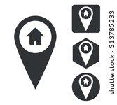 address marker icon set ...