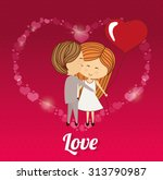 love concept with heart and... | Shutterstock .eps vector #313790987