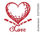 love concept with heart design  ... | Shutterstock .eps vector #313791053